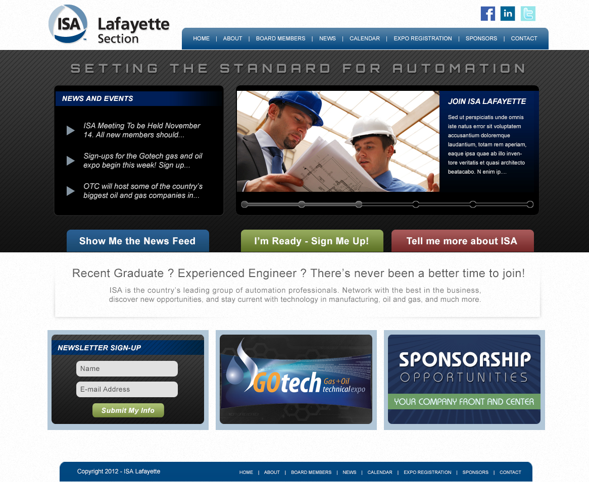 An oil and gas non-profit web design screenshot for a company in Houston TX